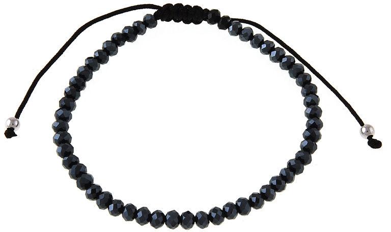 Delikatna bransoletka kulki kuleczki balls granatowe koraliki kryształ srebro 925 B0946