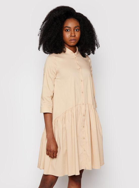 Imperial Sukienka koszulowa AA7PBBE Beżowy Reguular Fit