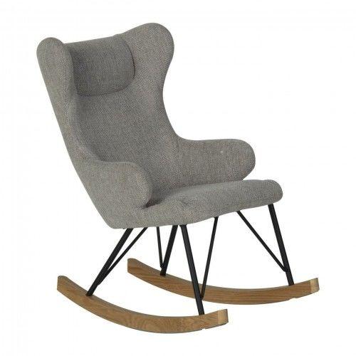 Fotel bujany QUAX dla dzieci De Luxe Sand Grey