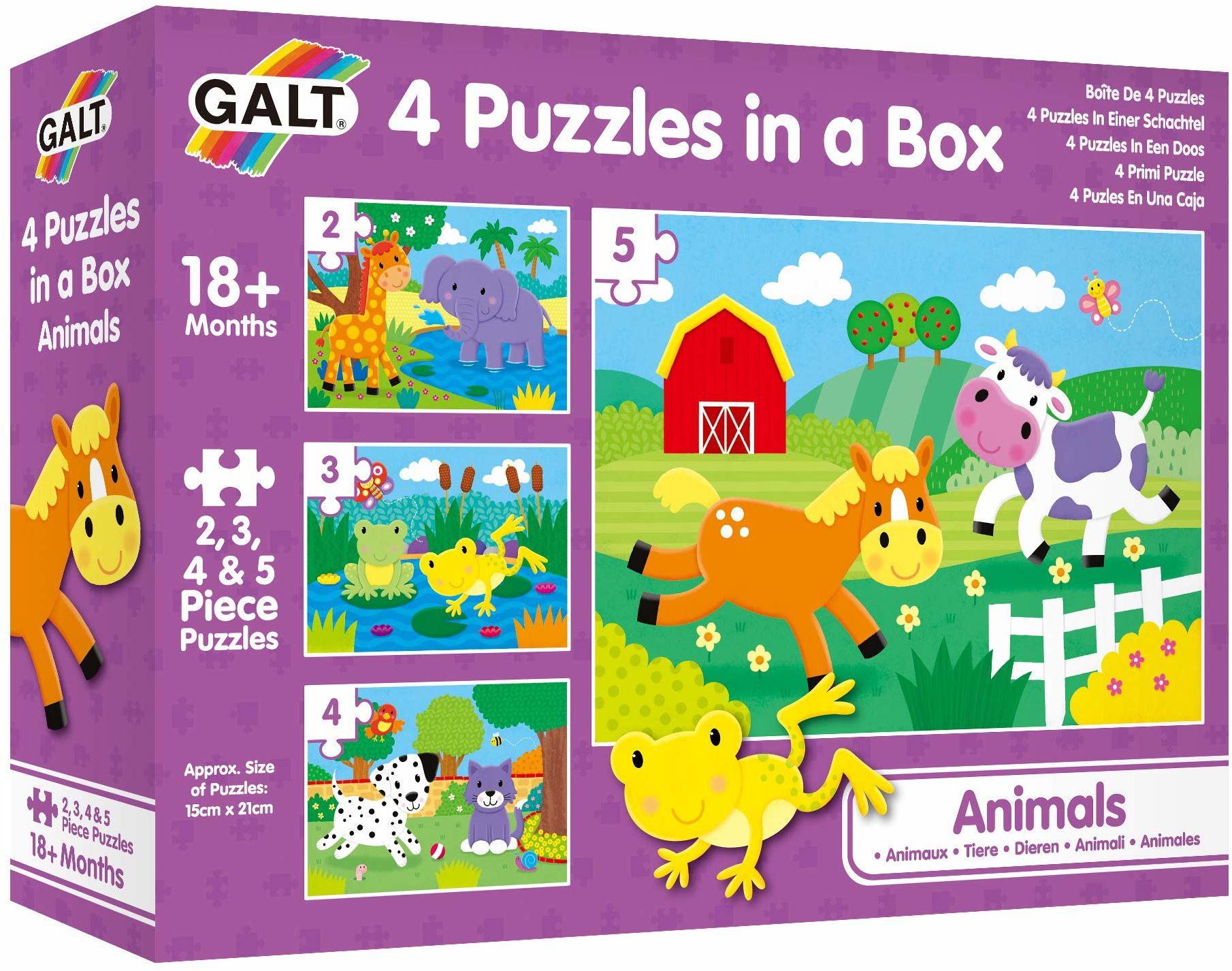Galt Toys 1005239 4 dziecięce puzzle