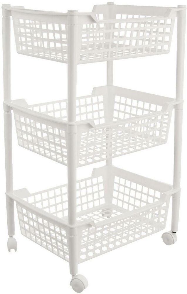 Wózek regał organizer szafka koszyk 3-poziomowy kuchenny łazienkowy na kółkach do kuchni łazienki kuchenny