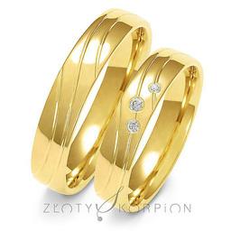 Obrączki ślubne Złoty Skorpion  wzór Au-A137