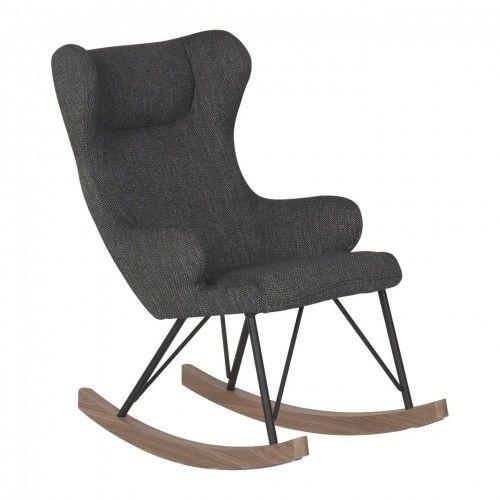 Fotel bujany QUAX dla dzieci De Luxe Czarny