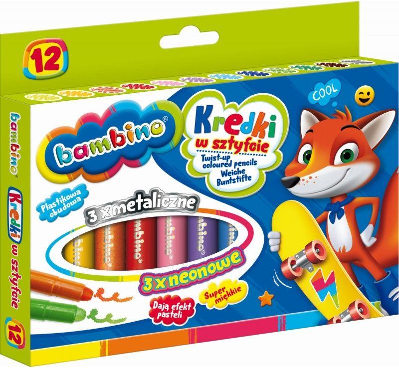 Kredki w sztyfcie 12 kolorów Bambino 28672