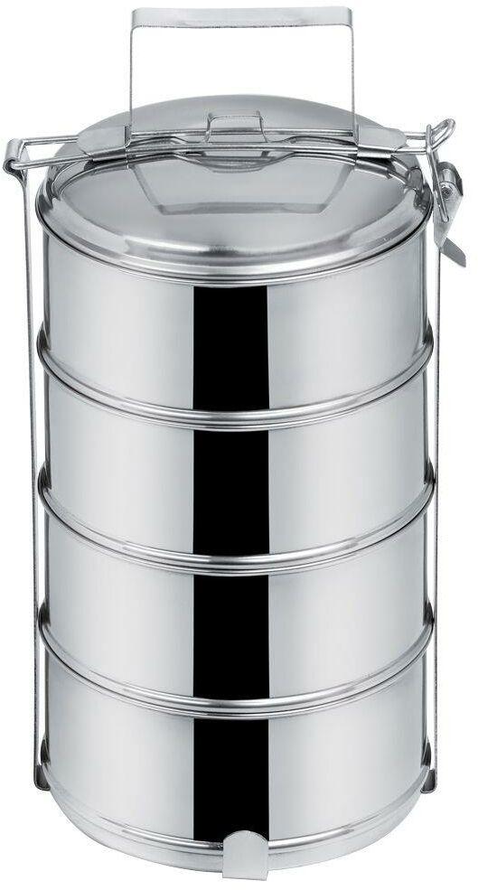 Menażka OBIADOWA stalowa 4-poziomowa do przenoszenia żywności 4x1L