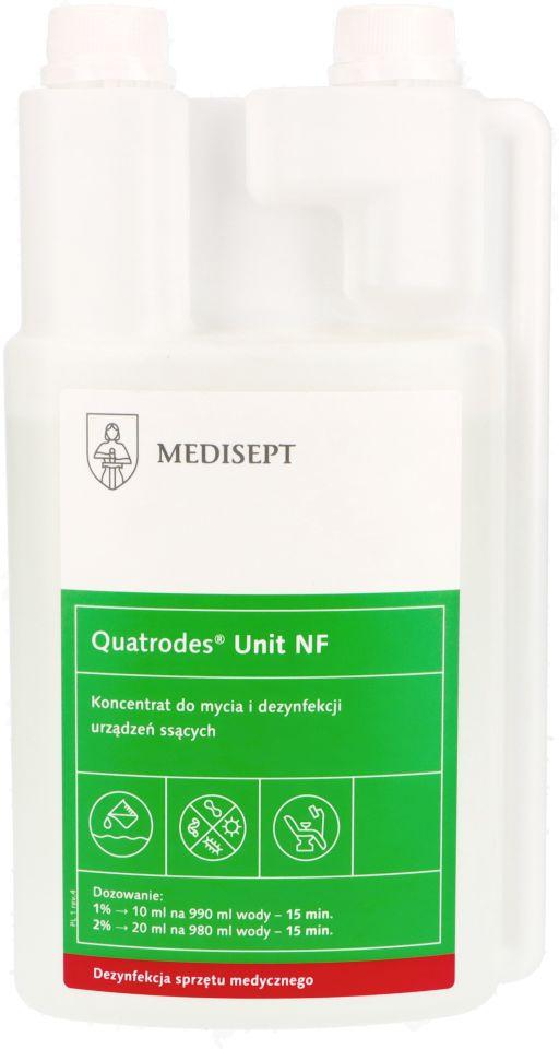 Quatrodes Unit NF – koncentrat do mycia i dezynfekcji urządzeń ssących 1 l