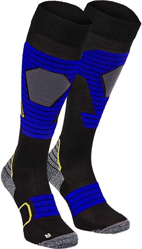 McKINLEY Brima rajstopy męskie czarny czarny/niebieski 36-38