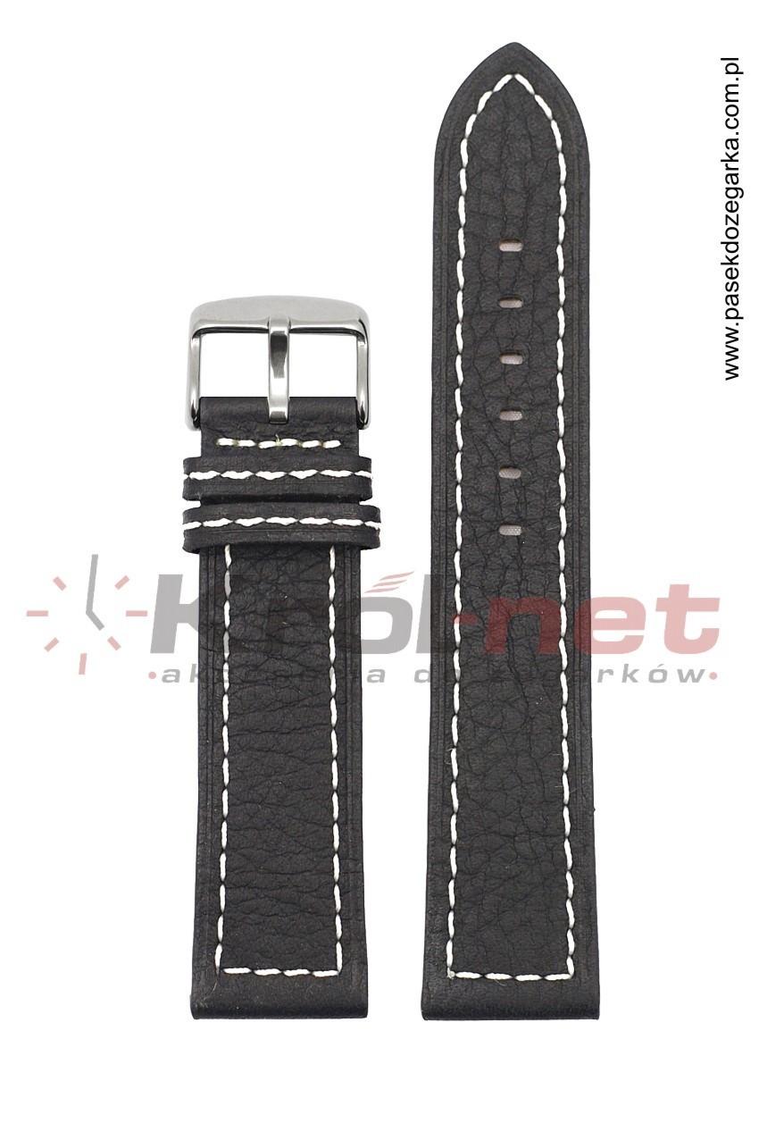 Pasek TK020/B/24 - czarny, przeszywany