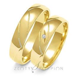 Obrączki ślubne Złoty Skorpion  wzór Au-A138