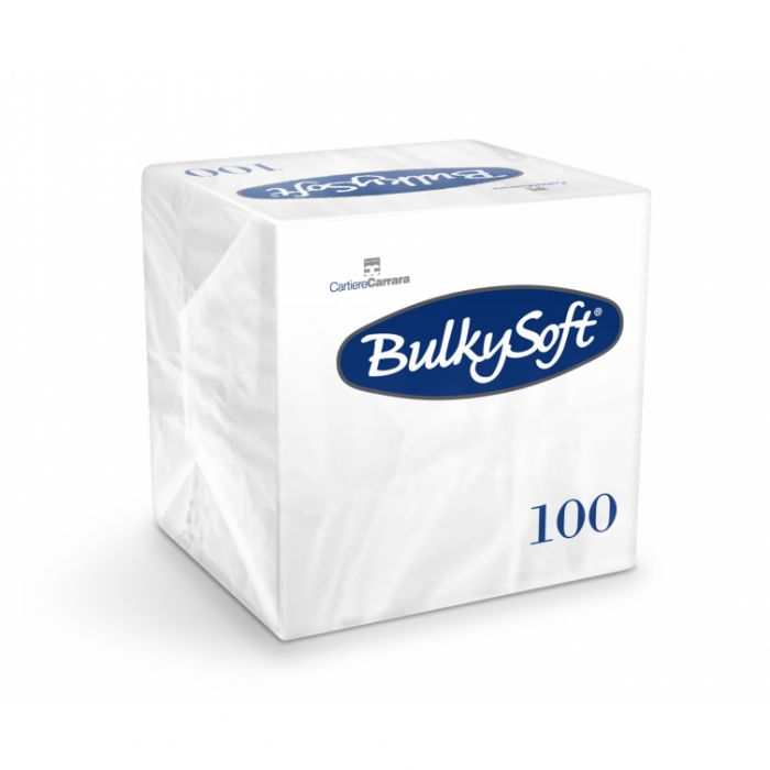 Serwetki papierowe BulkySoft dwuwarstwowe 24x24 składane 1/4, op.100 sztuk, różne kolory