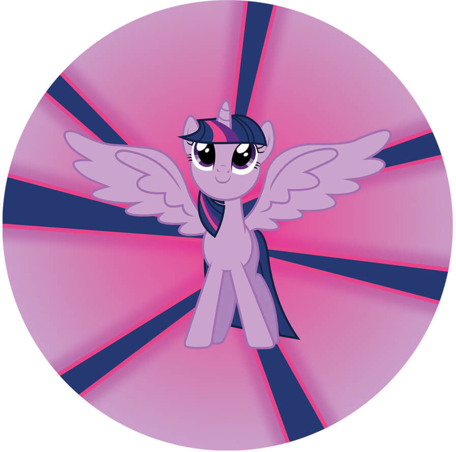 Dekoracyjny opłatek tortowy My Little Pony - 20 cm