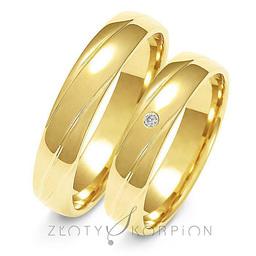 Obrączki ślubne Złoty Skorpion  wzór Au-A139