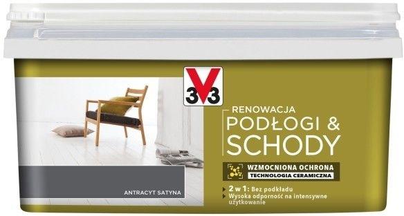Farba renowacyjna V33 Podłogi & Schody antracyt satyna 2 l