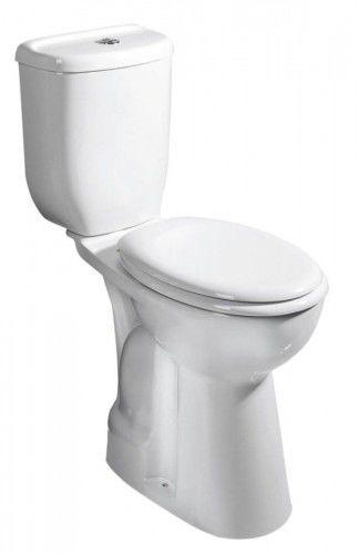 Kompakt WC dla osób niepełnosprawnych ,wysoki 49,5 cm z deską SOFT CLOSE, dolny odpływ (muszla WC + zbiornik + zawór)