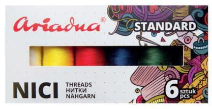 Zestaw nici Talia 120/200mb 6 kolorów Ariadna