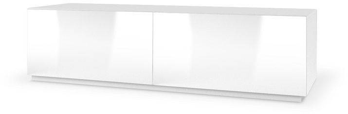 Szafka stojąca RTV LAVAL III 160x40x38 biały mat-biały połysk