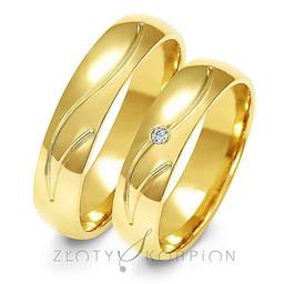 Obrączki ślubne Złoty Skorpion  wzór Au-A140