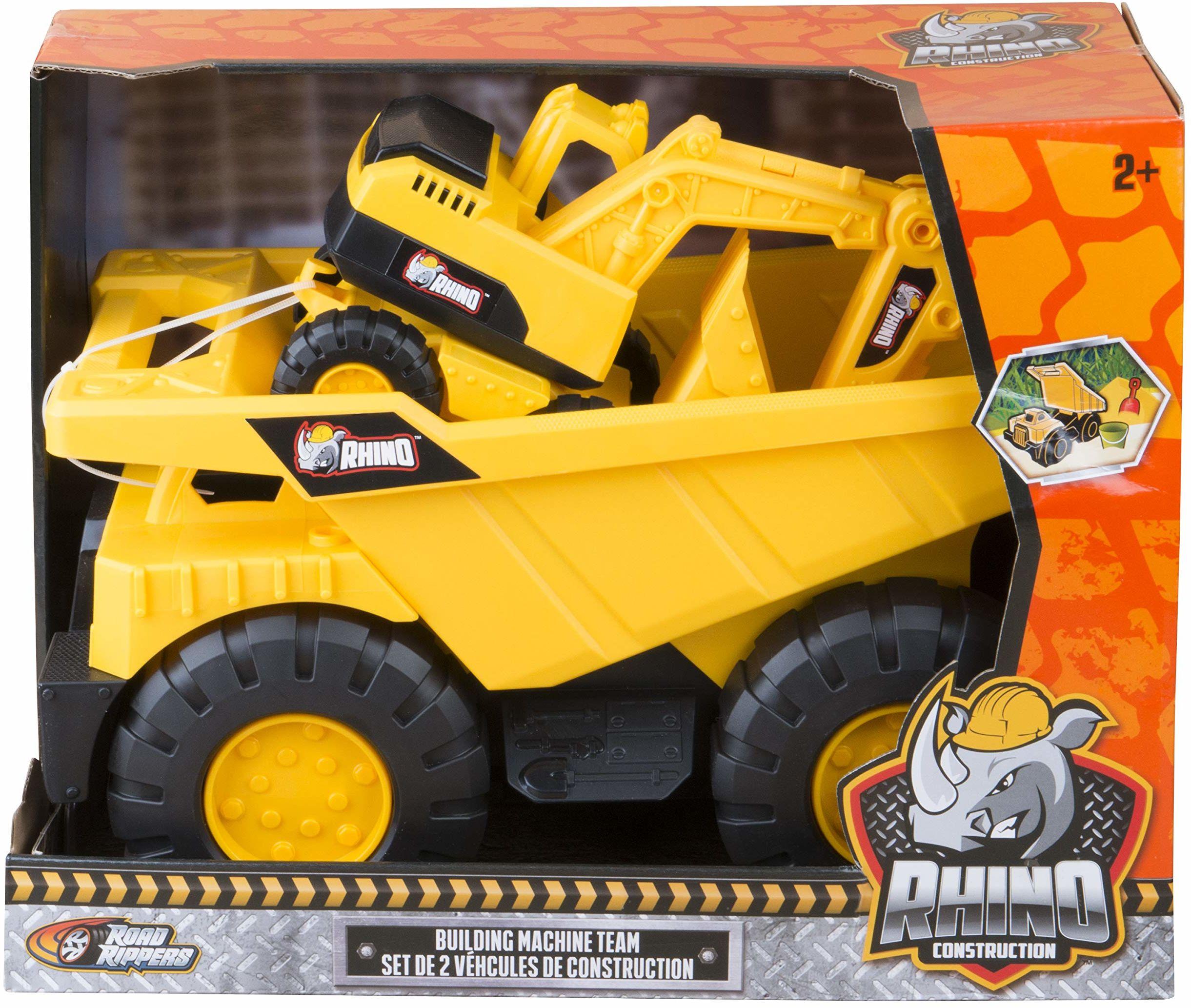 RHINO CONSTRUCTION - Mega wózek do samochodów ciężarowych / koparka (NIKKO TOYS LTD 30111)