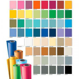 Colorama tło kartonowe 1,35m x 11m czarna (BLACK CO568)