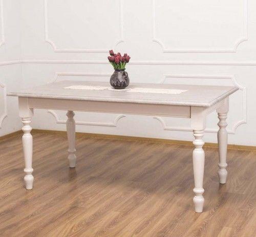 Stół prowansalski z dębowym blatem