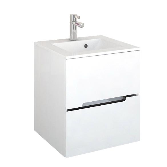Oristo Silver szafka podumywalkowa wisząca 50x55x44cm biały połysk OR33-SD2S-50-1