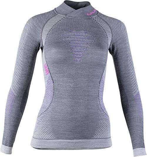 UYN damski podkoszulek funkcyjny Lady Fusyon Uw Lg_sl.turtleneck szary Anthracite/Purple/Pink X-S
