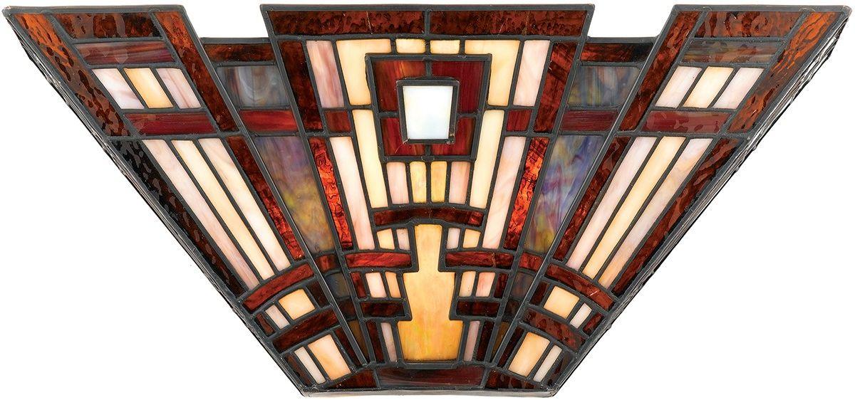 Classic Craftsman kinkiet witrażowy tiffany QZ-CLASSIC-CRAFT-WU - Quoizel Do -17% rabatu w koszyku i darmowa dostawa od 299zł !