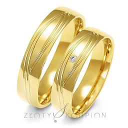 Obrączki ślubne Złoty Skorpion  wzór Au-A142