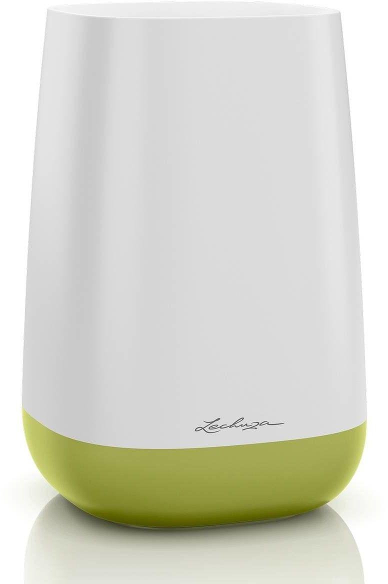 Wazon lechuza yula, biały - zielony - biały zielony