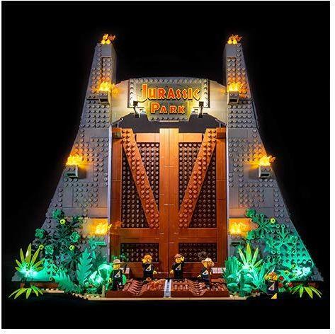 Light My Bricks 0793591189550 Park Jurajski T Rex Rampage 75936, biały