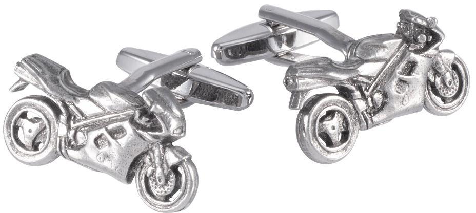 Spinki do mankietów motocykl wyścigowy x2 wcl059