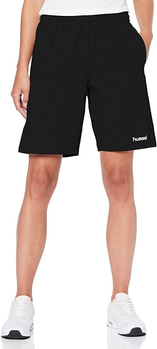 hummel damskie spodenki bermudy bawełniane Hmlgo damskie - bermudy szorty dla kobiet bermudy Czarny M