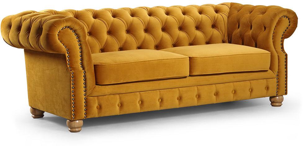 Sofa Chesterfield Harper 3-os., kanapa pikowana