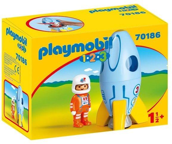 Playmobil - Astronauta z rakietą 70186