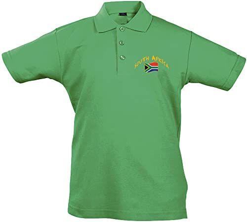 Supportershop Dziecięca koszulka polo Rugby Południowej Afryki S, zielona