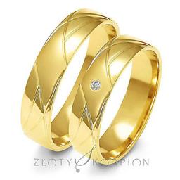 Obrączki ślubne Złoty Skorpion  wzór Au-A144