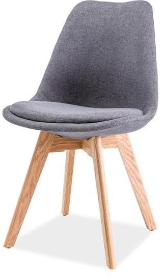 Krzesło DIOR ciemny szary/dąb skandynawskie