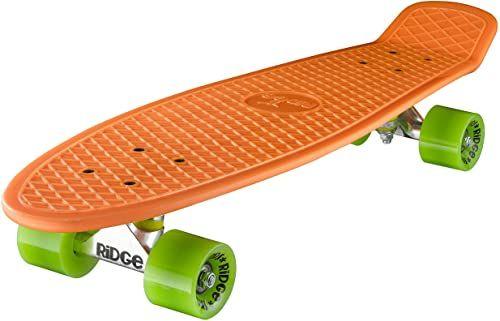 Ridge Deskorolka Big Brother Nikiel 69 cm Mini Cruiser, pomarańczowa/zielona