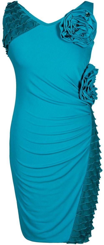 Sukienka FSU230 TURKUSOWY ŚREDNI