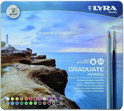 LYRA 2881240 kredki akwarelowe, wielokolorowe, 21 x 1,4 x 18 cm