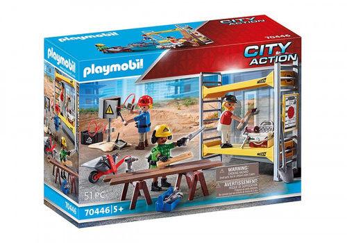 Playmobil - Rusztowanie z robotnikami 70446