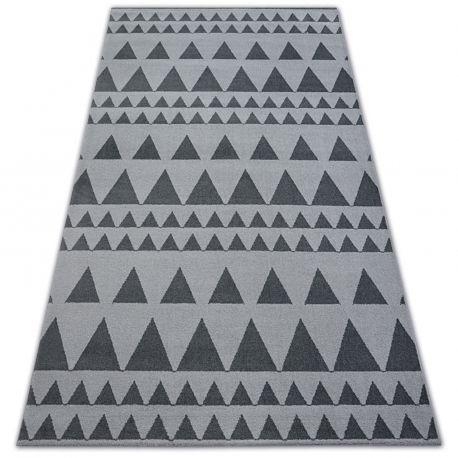 Dywan SENSE Micro 81243 TRÓJKĄTY srebrny/antracyt 80x150 cm