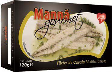 Portugalskie filety z makreli atlantyckiej w oliwie extra virgin z oregano 120g Manná GOURMET