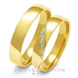 Obrączki ślubne Złoty Skorpion  wzór Au-A146