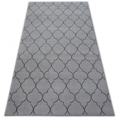 Dywan SENSE Micro 81220 KONICZYNA MAROKAŃSKA srebrny/antracyt TRELLIS 80x150 cm