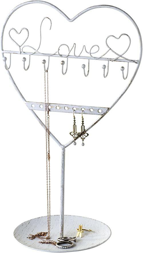 mopec szkatułka na biżuterię, metalowa, biała, 3 x 18 x 30 cm