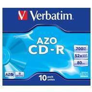 Verbatim CD-R 700MB x52 10szt Do nadruku DataLife+ AZO