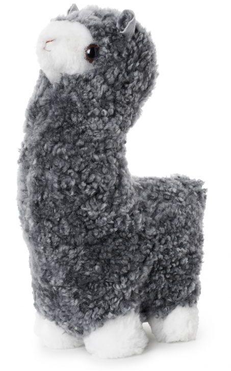 Alpaca, poduszka dekoracyjna z wełny, srebrna