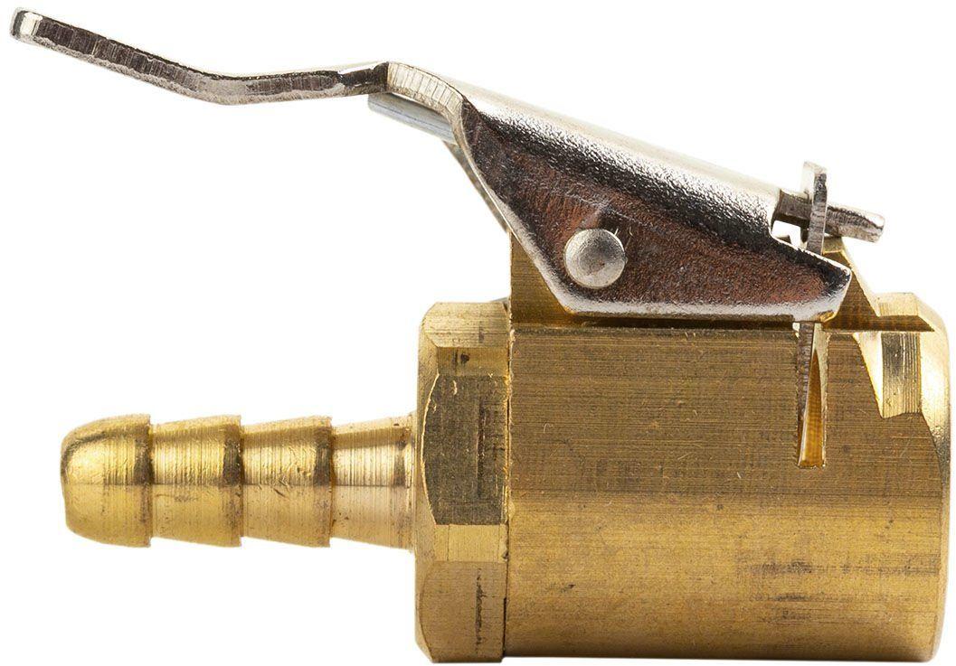 Końcówka z zaciskiem do pompowania 6mm EM otwarta - nypel 6 mm