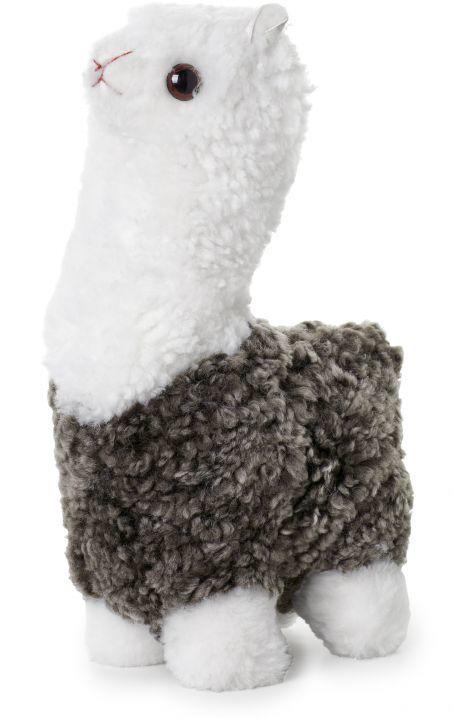 Alpaca, poduszka dekoracyjna z wełny, biało/piaskowa